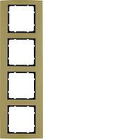 Рамка 4Х золотая/антрацит Berker B.3