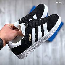 Чоловічі кросівки Adidas Gazelle (чорно/білі)
