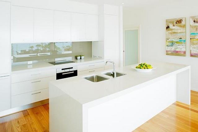 Кухонная столешница и остров из искусственного камня Caesarstone 2141 Snow