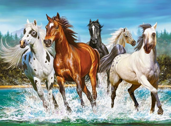 Пазлы Бегущие лошади на 2000 элементов