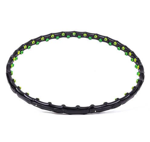 Обруч массажный Profi MS 0455 98 см Черно-зеленый (intMS 0455), фото 2