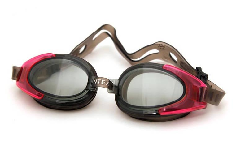 Очки для плавания Спорт Intex 55685 с защитой от УФ-лучей гипоаллергенные Розовый (int55685-2), фото 2
