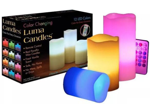 Светодиодные свечи Luma Candles 3 шт с пультом ДУ