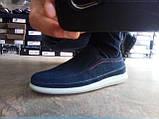 Літні комфортні сині нубукові туфлі Detta, фото 6