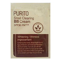 Пробник улиточного бб крема Purito BB Крем Snail Clearing BB Cream SPF38+++ №23