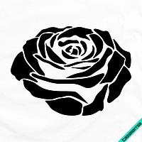 Термоаппликации на текстиль для дома Роза [Свой размер и материалы в ассортименте]