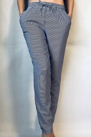 БАТАЛЬНЫЕ летние штаны N°17 П/1 (синяя), фото 2