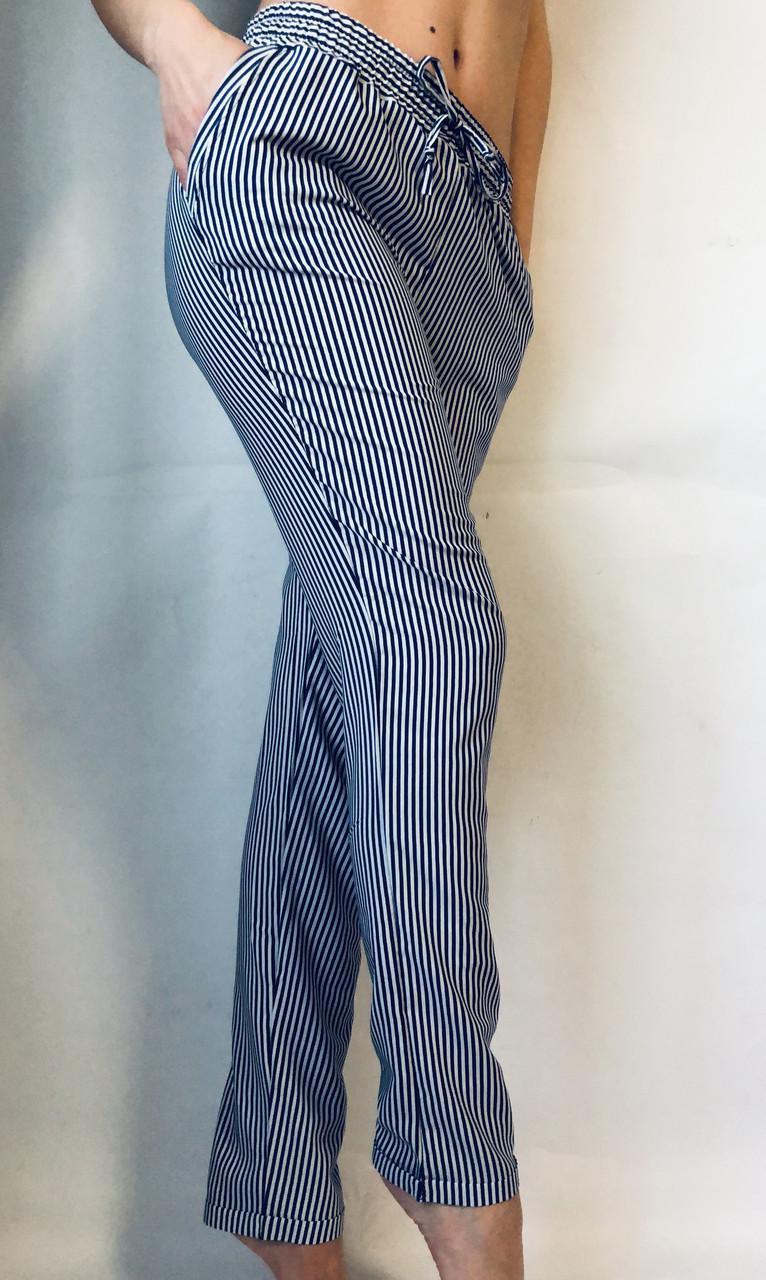 БАТАЛЬНЫЕ летние штаны N°17 П/1 (синяя)