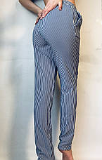 БАТАЛЬНЫЕ летние штаны N°17 П/1 (синяя), фото 3