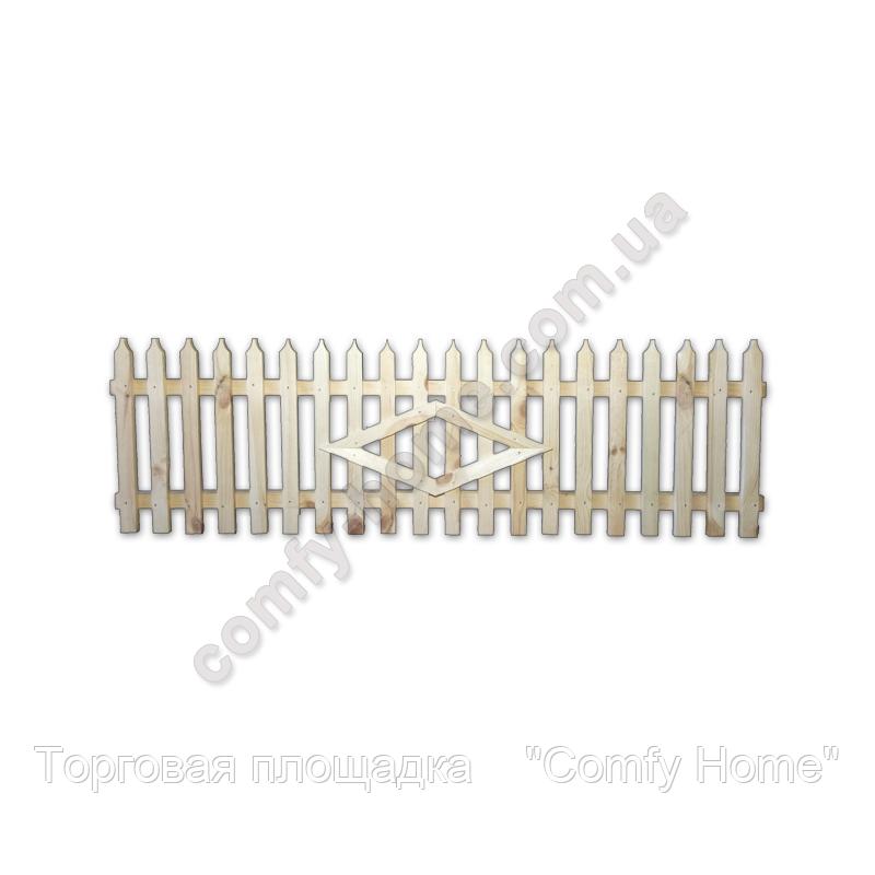 Забор деревянный штакетный (маленький)