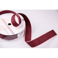 Лента текстильная 2,5 см (бордо)