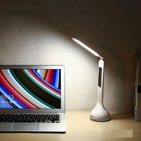 Настольная сенсорная лампа Remax RT-E185  LED Lamp. Светодиодная лампа с часами и подсветкой