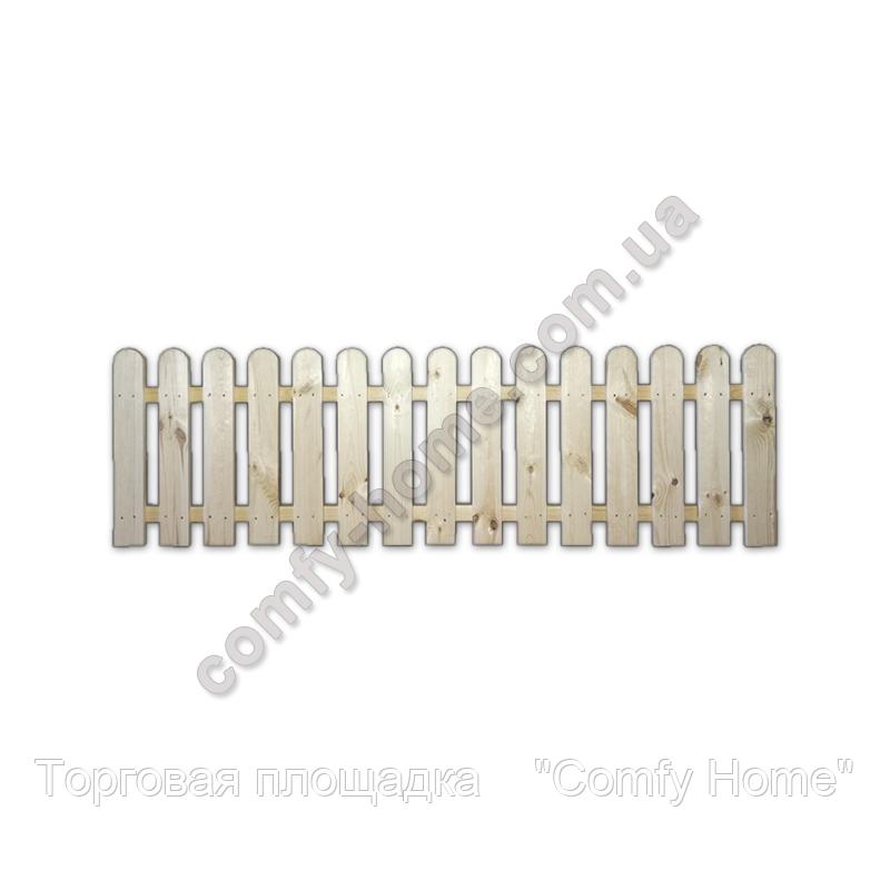 Забор Фигурный деревянный маленький