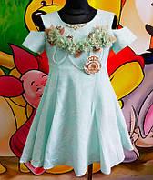Красивое нарядное детское платье Турция 80% хлопок, 20% полиэстр
