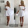 Платье женское нежное красивое с пышной юбкой и открытыми плечами Smv3144