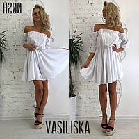 Платье женское нежное красивое с пышной юбкой и открытыми плечами Smv3144, фото 1