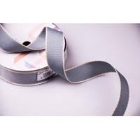 Лента текстильная 2,5 см (серая)