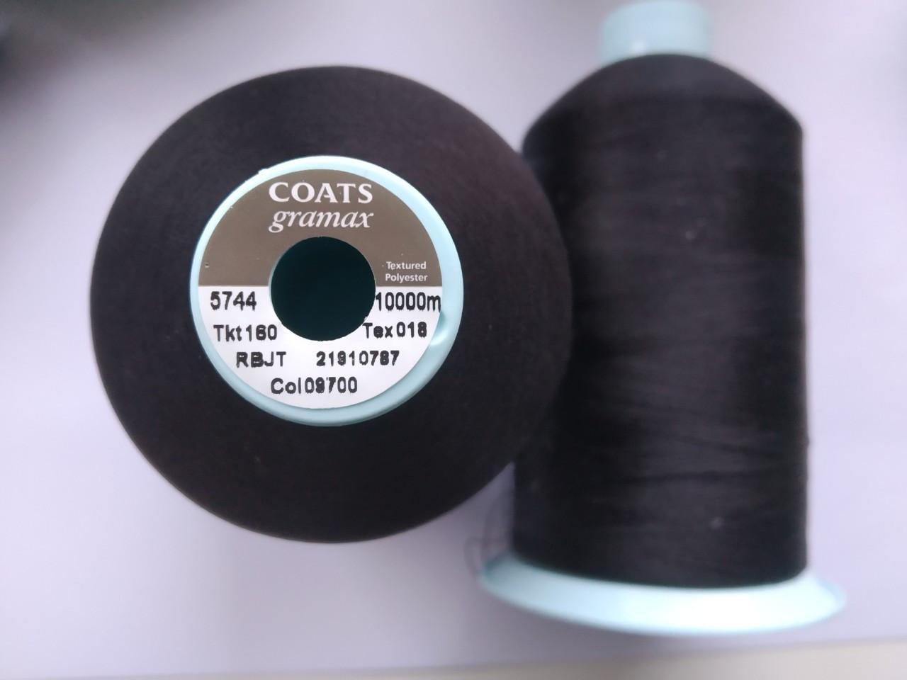 Текстурована нитка Coats gramax 160/ 10000v / 09700 чорний