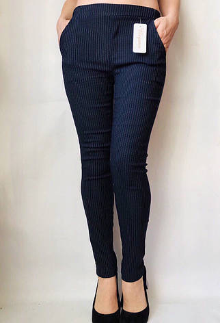 Коттоновые брюки  № 63 синий, фото 2