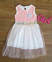 Красивое нежно розовое платье  на девочку Турция