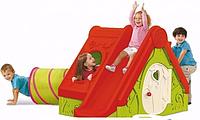 Дитячий будиночок з гіркою Keter Funtivity червоний