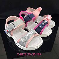 Детские сандалии на липучках для девочек оптом Размеры 25-30 микс