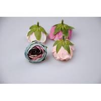 Цветок ранункулус 4 см. (бирюза)