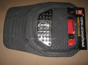 Килим гумовий UNI килимки салону універсальні комплект 5шт ДК універсальні Килимки metel сірі ДК DK-3122GR