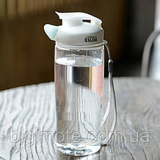 Качественная Бесконтактная бутылка для воды ESLOE 500 мл,бутылка для спорта,бутылка для зала, фото 3