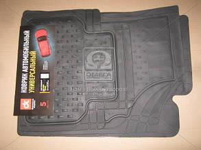 Килим гумовий UNI килимки салону універсальні комплект 5шт ДК універсальні Килимки BURAN чорні ДК DK-3124BK