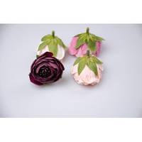 Цветок ранункулус 4 см. (марсала)