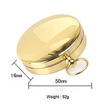 НаоткрытомвоздухеПортативныйлатунныйкарман G50 Медь Золотой компас Световая навигационная панель - 1TopShop, фото 2