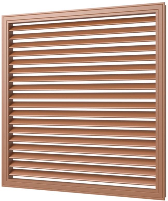 Приточно-вытяжная решетка 600/600 мм коричневая, пластиковая