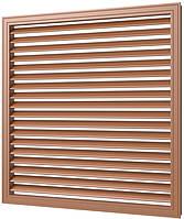 Приточно-вытяжная решетка 600/600 мм коричневая, пластиковая, фото 1