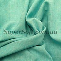 Костюмная ткань габардин лен мята