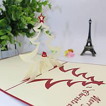 Рождественская елка и снеговик 3D Pop Up Поздравительная открытка Рождественские подарки Party Greeting Card - 1TopShop, фото 3