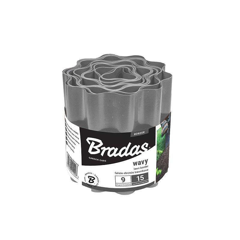 Бордюр для газона Bradas 20см*9 м  Серый, OBFGY  0920