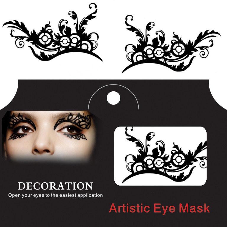 Глаз Тату Наклейка Хэллоуин Squishy Eyes Liner Lace Fretwork Papercut Временный маскарад лица - 1TopShop