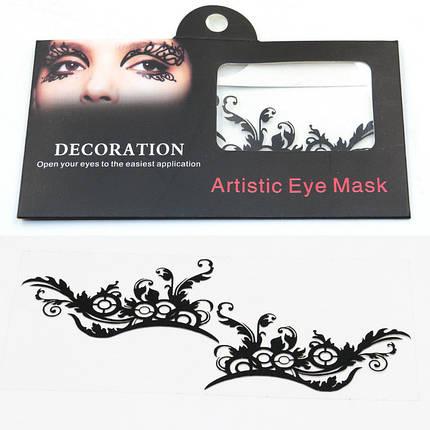 Глаз Тату Наклейка Хэллоуин Squishy Eyes Liner Lace Fretwork Papercut Временный маскарад лица - 1TopShop, фото 2