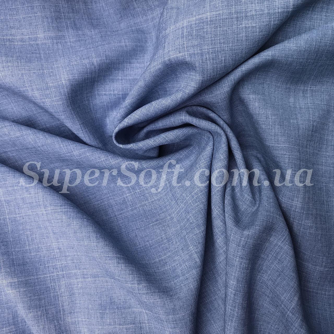 Костюмная ткань габардин лен джинс