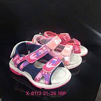 Детские сандалии на липучках для девочек оптом Размеры 21-26 микс