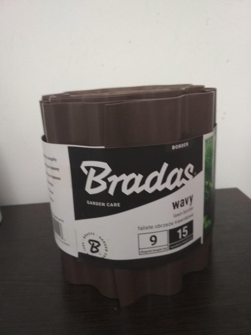 Бордюр для газона Bradas 20 см* 9 м Коричневый OBFB 0920