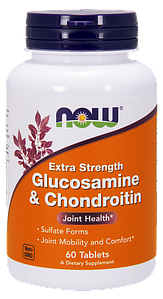 NOWДля суставов и связокGlucosamine & Chondroitin extra strength60 tabs