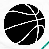 Термоаппликации на портфели Баскетбольный мяч [Свой размер и материалы в ассортименте]