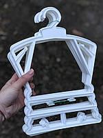 Пластиковая детская белая рамка вешалка ширина 30см для детской одежды, фото 1