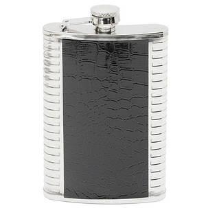9oz кожа нержавеющая сталь Фляга ликер алкоголь пить виски карманные бутылки - 1TopShop, фото 2
