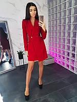 1b832c27d57eea9 Красное Платье со Сборками и Золотистой Молнией — в Категории ...