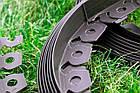 Бордюр GARDENER под брусчатку 10 м + 20 колышков Зеленый, фото 4