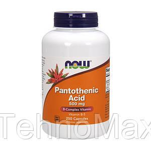 NOW пантотеновая кислота Pantothenic Acid 500 mg 250 caps