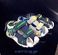Детские закрытые сандалии на липучках для мальчиков оптом Размеры 21-26 микс